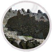 Machu Picchu Peru 12 Round Beach Towel