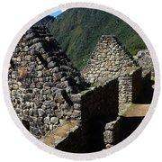 Machu Picchu Peru 8 Round Beach Towel