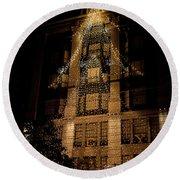 Macy's Ny Christmas Lights Round Beach Towel
