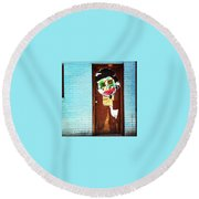 Mad Libs Graffiti Round Beach Towel by Katie Cupcakes