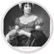 Madame De Sta�l (1766-1817) Round Beach Towel
