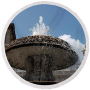 Maderno's Fountain Round Beach Towel