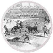 Madrid: Bullfight, 1846 Round Beach Towel