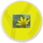 Magic Fern Flower 02 Round Beach Towel