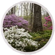 Magical Azaleas At Callaway Botanical Gardens Round Beach Towel
