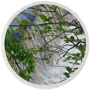 Magical Falls H Round Beach Towel