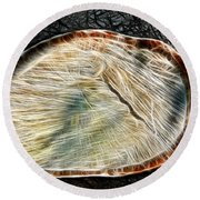Magical Tree Stump Round Beach Towel by Mariola Bitner