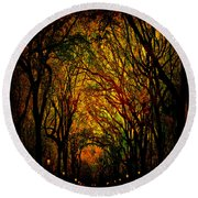 Magick Mall Round Beach Towel by Chris Lord