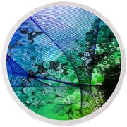 Magnification 2 Round Beach Towel
