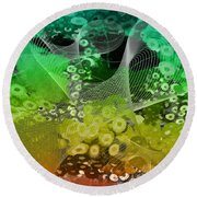 Magnification 3 Round Beach Towel by Angelina Vick