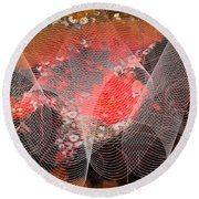Magnification 4 Round Beach Towel by Angelina Vick