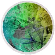 Magnification 5 Round Beach Towel by Angelina Vick