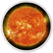 Magnificent Coronal Mass Ejection Round Beach Towel