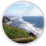 Magnificent Oregon Coast Round Beach Towel
