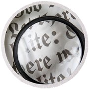 Magnifying News Round Beach Towel