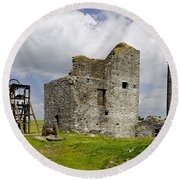 Magpie Mine - Sheldon In Derbyshire Round Beach Towel