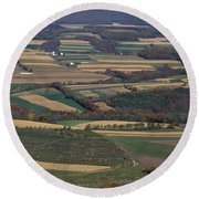Mahantango Creek Watershed, Pa Round Beach Towel