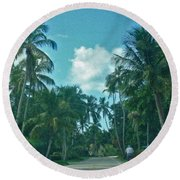 Mail Delivery In Paradise Round Beach Towel