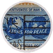 Mail Early For Christmas And Peace Round Beach Towel