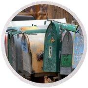 Mailboxes Round Beach Towel