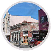 Main Street In Silver City Nm Round Beach Towel