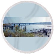 Maine Highway Round Beach Towel