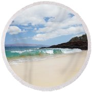Makena Coast Round Beach Towel