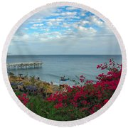 Malibu Beauty Round Beach Towel
