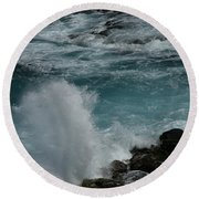 Maliko Point Maui Hawaii Round Beach Towel