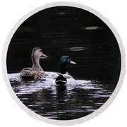 Mallards - Like Walking In The Rain Round Beach Towel
