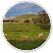 Mallerstang Dale In Cumbria Uk Round Beach Towel