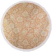 Mallow Wallpaper Design Round Beach Towel