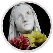 Mama Mary Round Beach Towel
