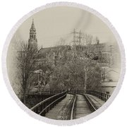Manayunk From The Tressel Tracks Round Beach Towel
