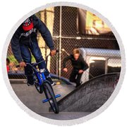 Manhattan Bmx Round Beach Towel