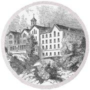 Manhattan College, 1868 Round Beach Towel