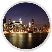 Manhattan Panorama Round Beach Towel