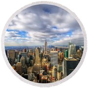 Manhattan05 Round Beach Towel by Svetlana Sewell