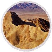 Manley Beacon Death Valley Round Beach Towel