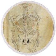 Mansurs Anatomy, Skeletal System, 15th Round Beach Towel