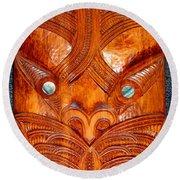 Maori Mask One Round Beach Towel