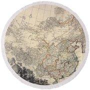 Map Of China, 1734 Round Beach Towel