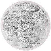 Map Of New France, 1566 Round Beach Towel