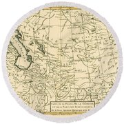 Map Of Persia Round Beach Towel