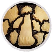 Maple Sugar Candies Round Beach Towel