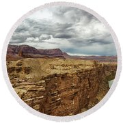 Marble Canyon Overlook Round Beach Towel