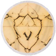 Marble Face Round Beach Towel