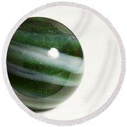 Marble Green Onion Skin 2 Round Beach Towel