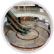 Marble Staircases Round Beach Towel