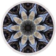 Marbled Mandala - Abstract Art Round Beach Towel